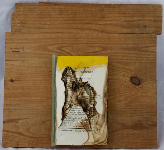 Seeungeheuern, Papier auf Holzunterlage, 1984