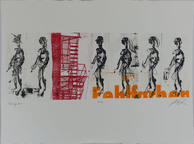 Fehlfarben, Offset-Lithografie, 56x76 cm, 2014