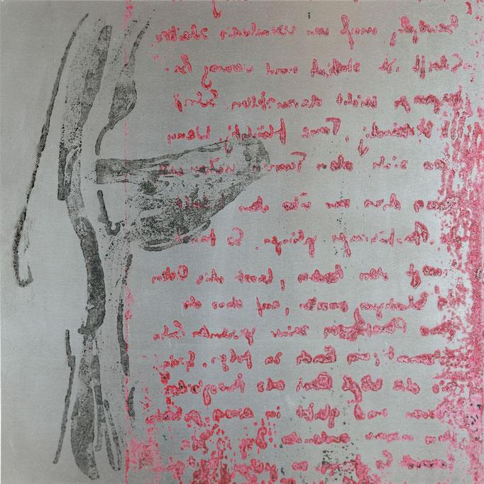 Metal (Bunny), Offset-Lithografie auf Alu, 20x20 cm, 2014