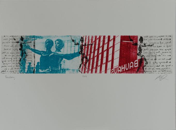 Tanzdrang, Offset-Lithografie, 56x76 cm, 2014