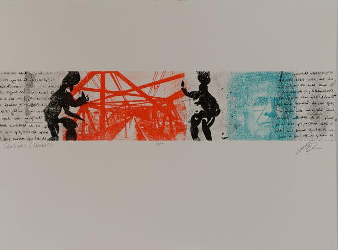 Schreibfehler (Donald_2), Offset-Lithografie, 56x76 cm, 2014