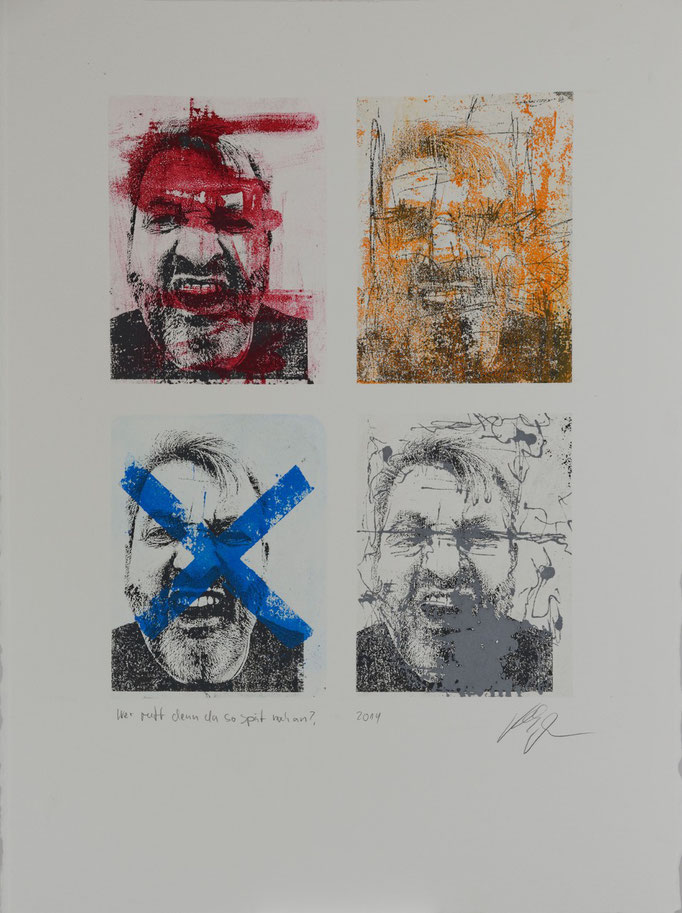 Wer Ruft Denn Da So Spät Noch An?, Offset-Lithografie, 56x76 cm, 2014
