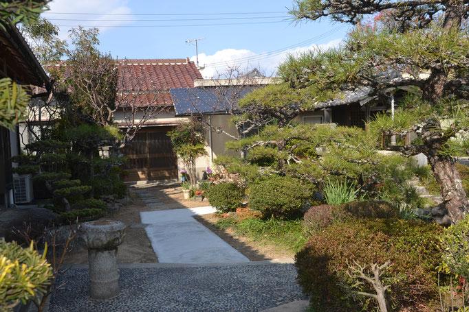 久桂寺水場への通路の整備