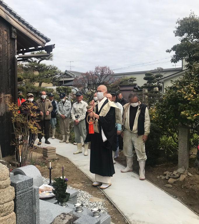 久桂寺 永代供養墓2021/3/7完成式