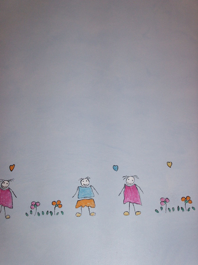 veladura y dibujo infantil Pintors Barcelona, Sant Gervasi