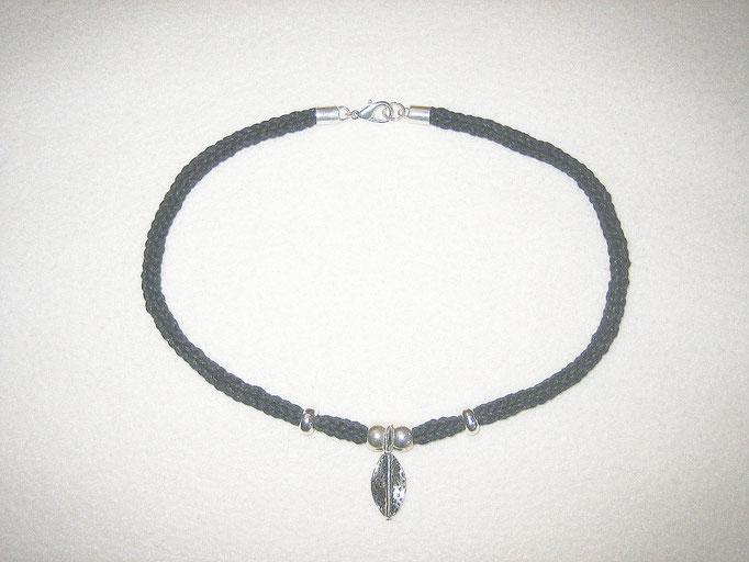 Baumwollband mit Silberblatt