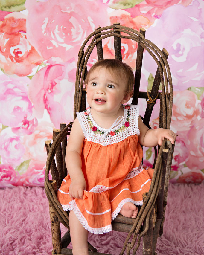 Orange Little Cotton Dress