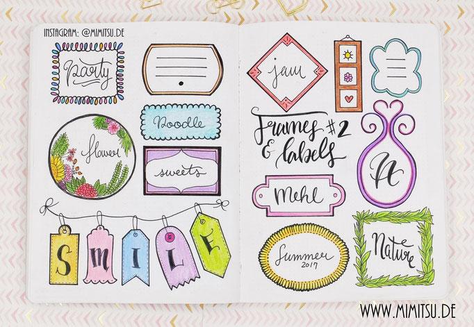 Doodle Illustration Bullet Journal und Sketchnotes Frames Rahmen 7
