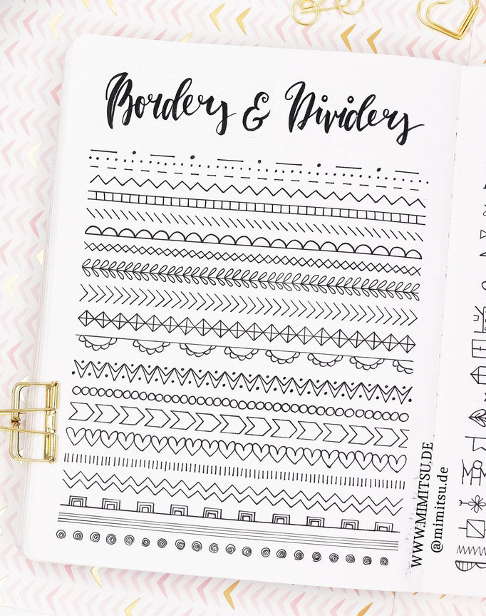 Doodle Illustration Bullet Journal und Sketchnotes Dividers und Boarders 4