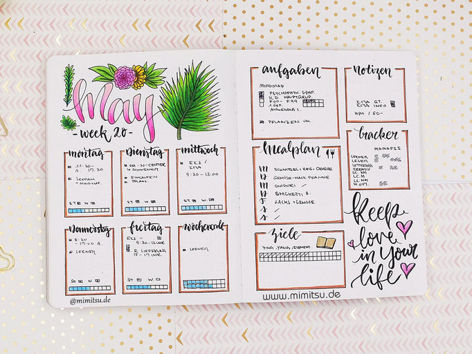 Bullet Journal Woche Mai Weekly 2 - Wochenübersicht