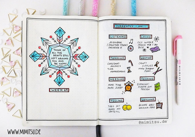 Bullet Journal Collections Beispiel Currently