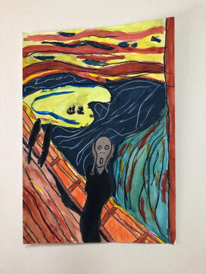 ムンクの模写 TOCAこどもアート