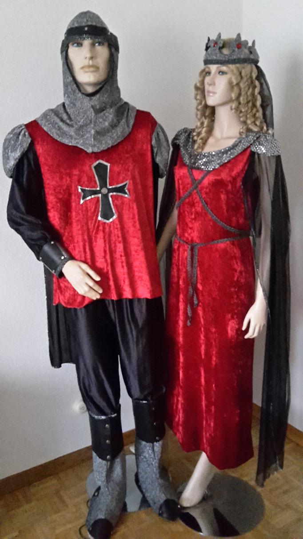 Ritterpaar>Damenkleid Gr,M Fr.35.-,Ritter Gr.M/L Fr.35.-