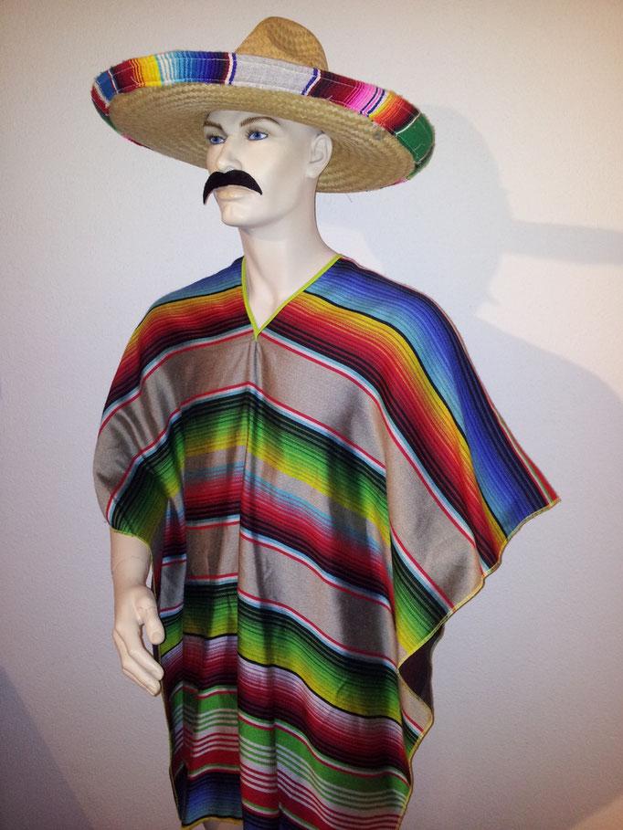 MEXIKANER, Poncho + Hut, Fr. 24.-