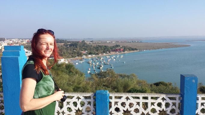 Blick auf die Lagune Moulay Bousselham mit unserem Stellplatz