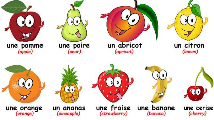 La Chanson des Fruits - French Fruits Song - Las Frutas en Frances