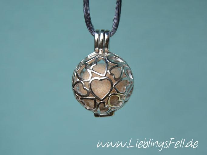 """Engelsflüsterer """"Herzen"""" (2,2 cm) aus 925 Sterling Silber (die Kette ist frei wählbar, der Anhänger auch mit Kreisen möglich) - 69€ - (Bild K7)"""