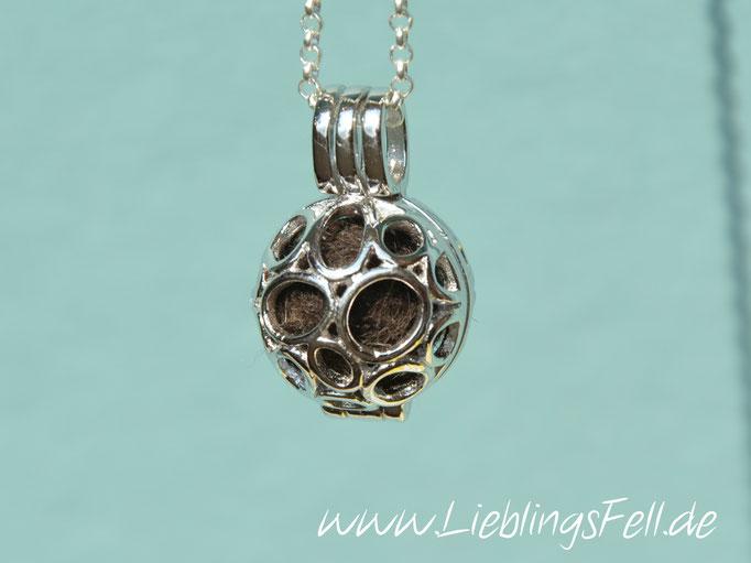 """Engelsflüsterer """"Kreise"""" (1,7 cm) aus 925 Sterling Silber (die Kette ist frei wählbar, der Anhänger auch mit Herzen möglich) - 59€ - (Bild K19)"""