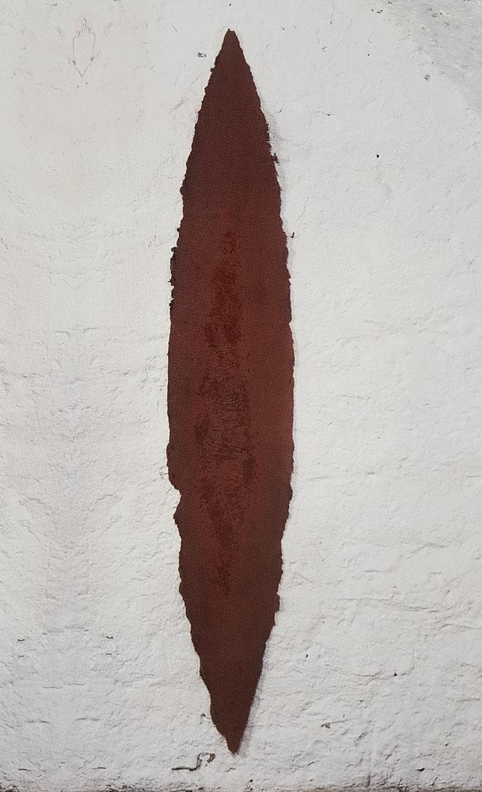 """Schild""  1999,  170x40 cm"