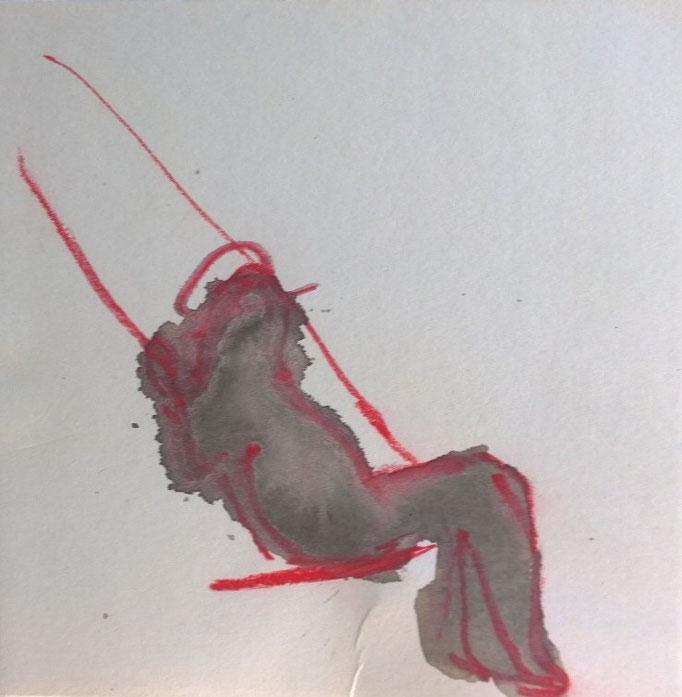 Schauklerin  2017, 15x15 cm