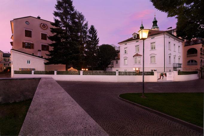 Domus Anwesen bei Sonnenuntergang - Brixen Architektur - Südtirol