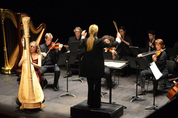 Finale du concours Lily Laskine, Concertino de Dohnanyi avec l'orchestre Lamoureux.