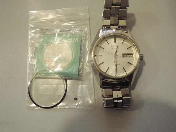 セイコー腕時計のオーバーホールとガラス交換。ガラス交換でとってもキレイになりました。