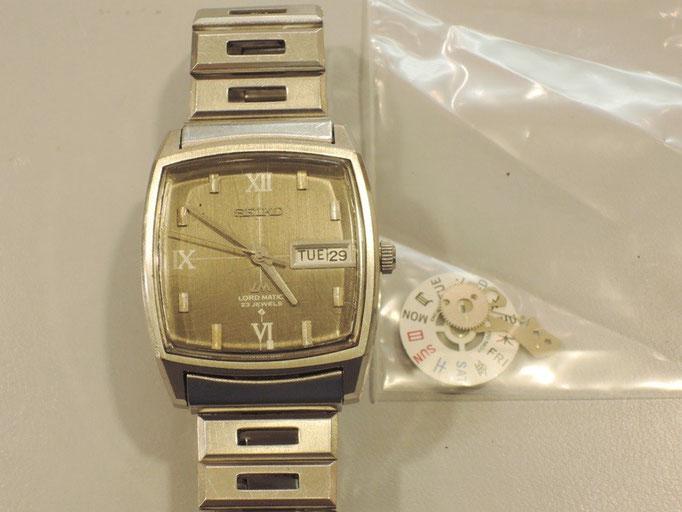 セイコー自動巻き時計オーバーホール。カレンダー部分修理