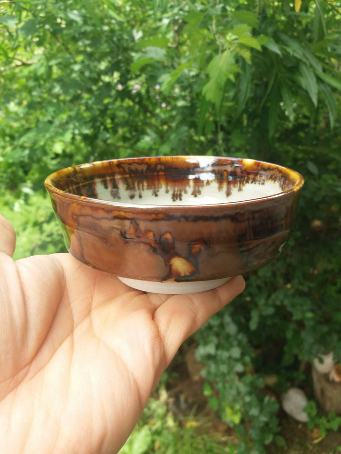 Porzellanschale mit Steinstaubglasur