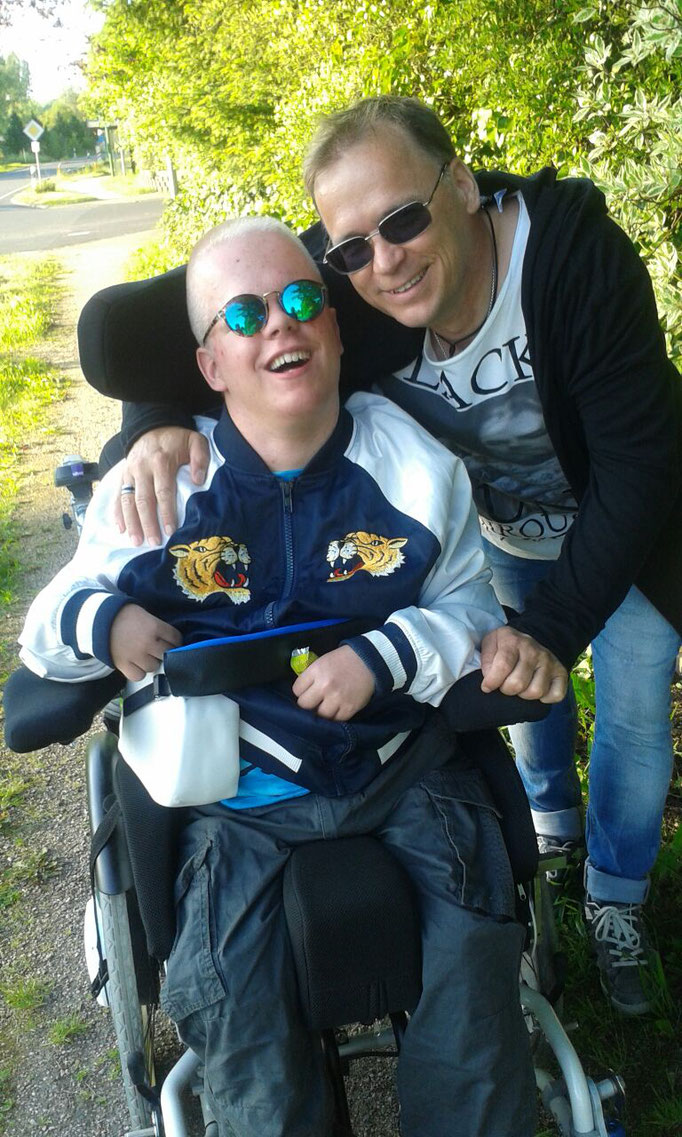 beim Familienausflug (hier mit meinem Vater)