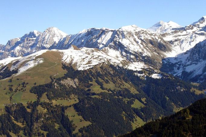 Lohner - Altels - Balmhorn (über em Aemmerte-Pass rechts)