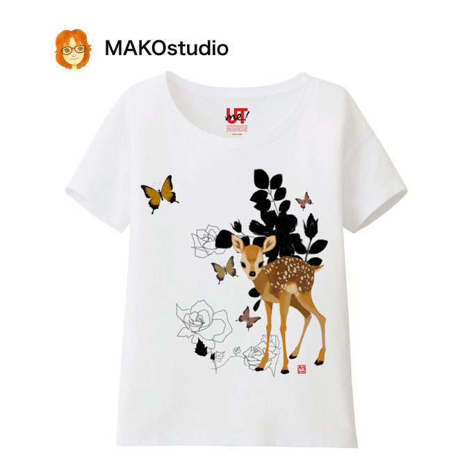 ユニクロUTme Tシャツ/サイズ、色が選べます。バンビの夢。