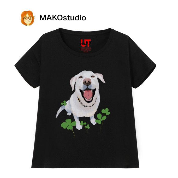 笑うラブラドール/ユニクロUTme Tシャツ/サイズ、色が選べます。