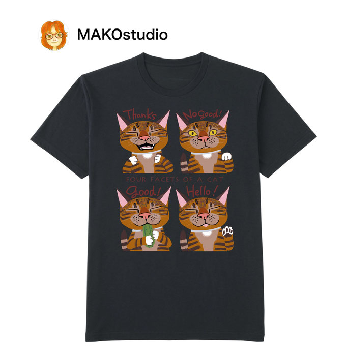 ユニクロUTme Tシャツ/サイズ、色が選べます。猫4面相