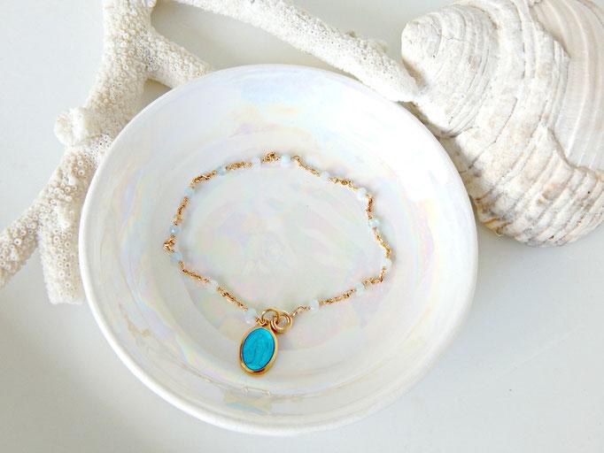 bracelet minimaliste avec médaille miraculeuse ou breloque