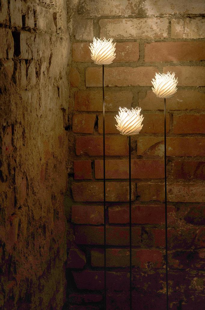 Spike - LED Leuchte aus dem 3D-Drucker, €351 - €394 je nach Höhe