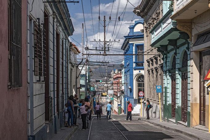 Kreuzung in Santiago de Cuba