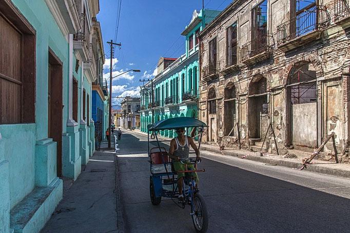 Rikscha-Fahrer in Santiago de Cuba