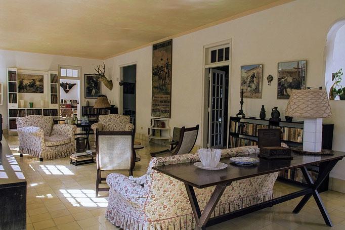 Hemingways Wohnzimmer im Hemingway-Museum in Havanna