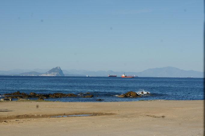 Ceuta mit Sicht auf Gibraltar
