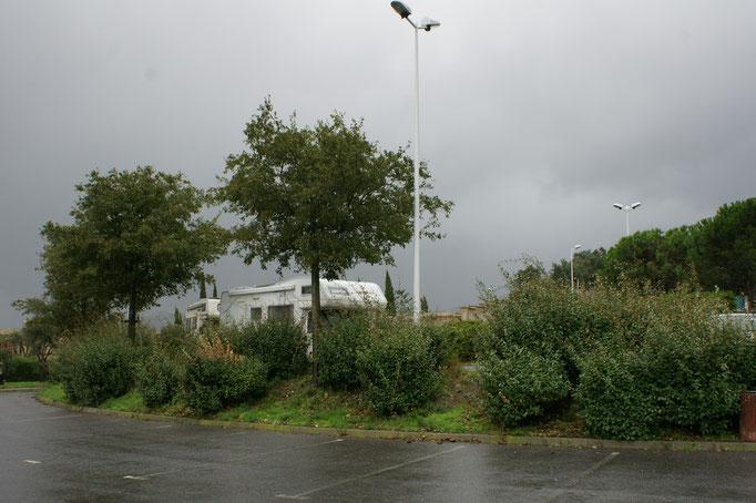 Auch andere Camper machen Rast im Regen
