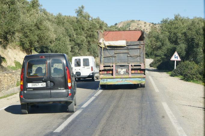 Manche Fahrer haben es sehr eilig