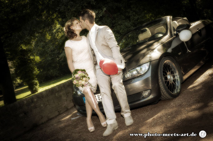 People Fotografie - Wedding - Hochzeit - BMW - Fotos by Ivano Fargnoli - www.photo-meets-art.de - Rommerskirchen