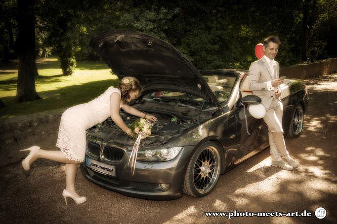 People Fotografie - Wedding - Hochzeit - BMW - Fotos by Ivano Fargnoli - www.photo-meets-art.de - Rommerskirchen