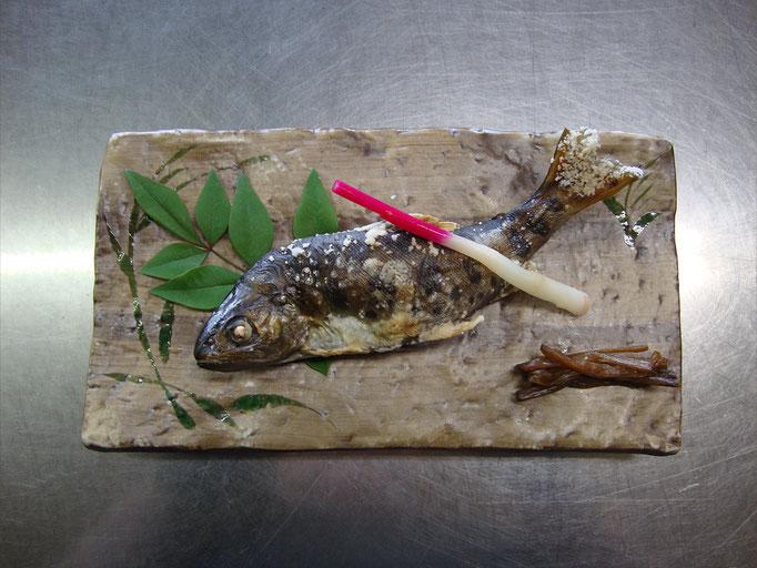 天然山女魚の塩焼き