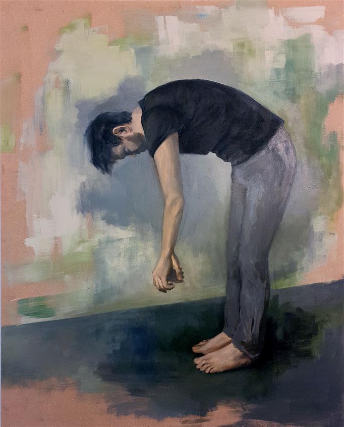 Hanging out, 125 x 100 cm, Acryl auf Leinwand, 2018 /Privatbesitz/