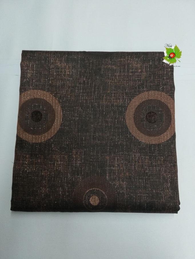 Scampolo tessuto d'amascato fantasia con cerchio 280x280 cm. Col.Marrone bruciato. B270