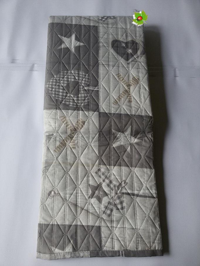 Copriletto trapuntato trapuntino singolo double face 170x260 cm.Col.Grigio.Art.A563
