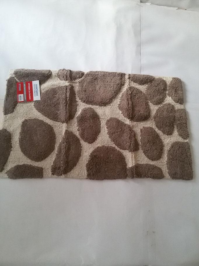 Tappeto bagno spugna di cotone 55x110 cm Marrone/Beige Art.A332