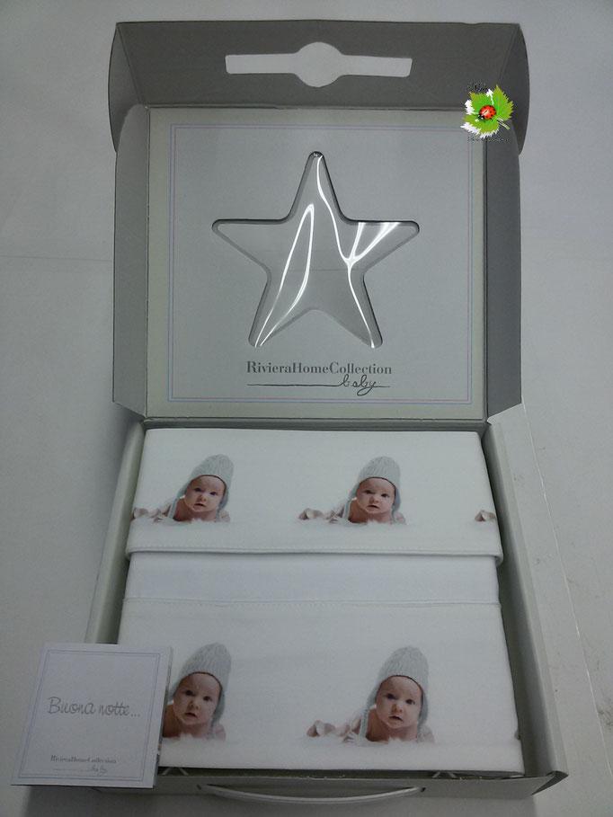 Completo lenzuola baby digitale lettino culla Art.Cuffiett..Art.A337